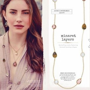 Minaret Long Station Necklace - Tortoise